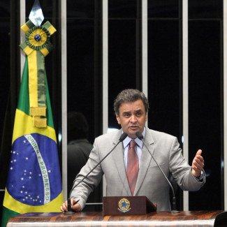 O candidato a presidência, Aecio Neves. Fonte: PSDB MG