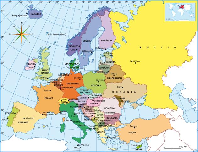 Mapa europeu
